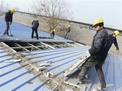 原彩钢瓦屋面拆除工程