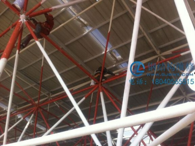 vwin德赢备用网架 vwin ac米兰翻新油漆及更换屋面板施工案(图1)